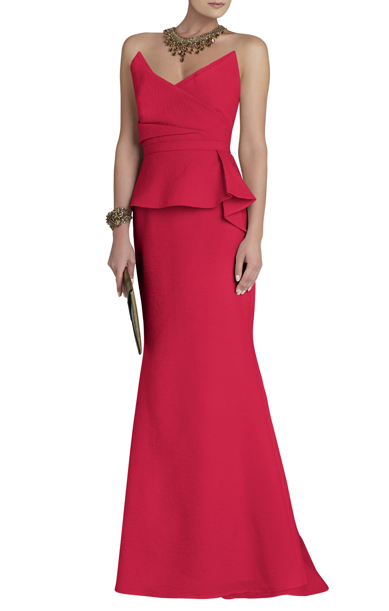 Gracie Gown Strapless Peplum