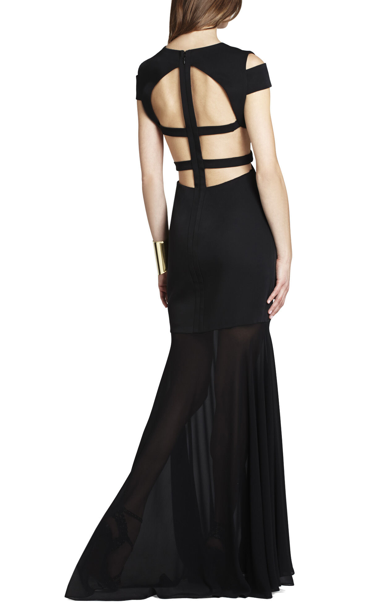 BCBG Black Cut Out Dress