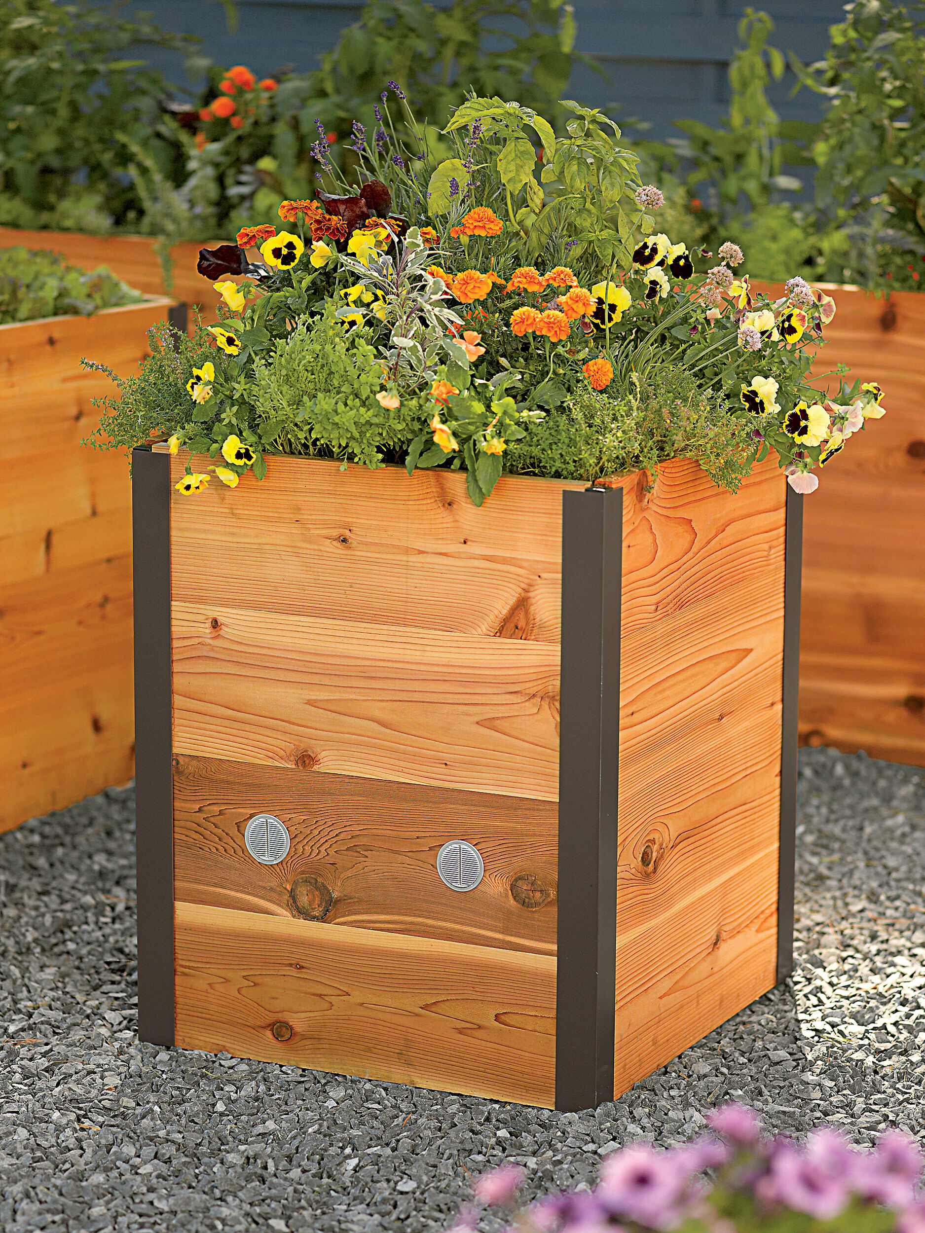 tall outdoor planter 2x2 elevated