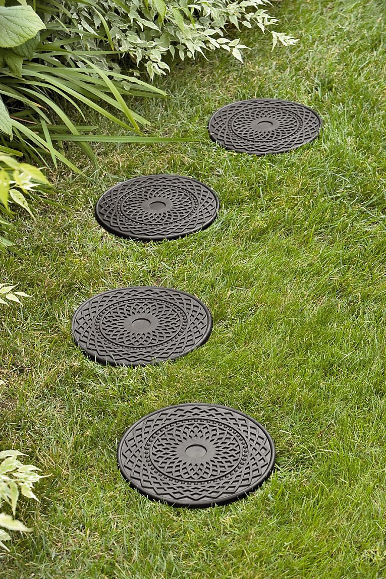 decorative rubber stepping stones