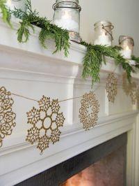 Paper Garland - Paper Snowflake Garland on Jute Twine