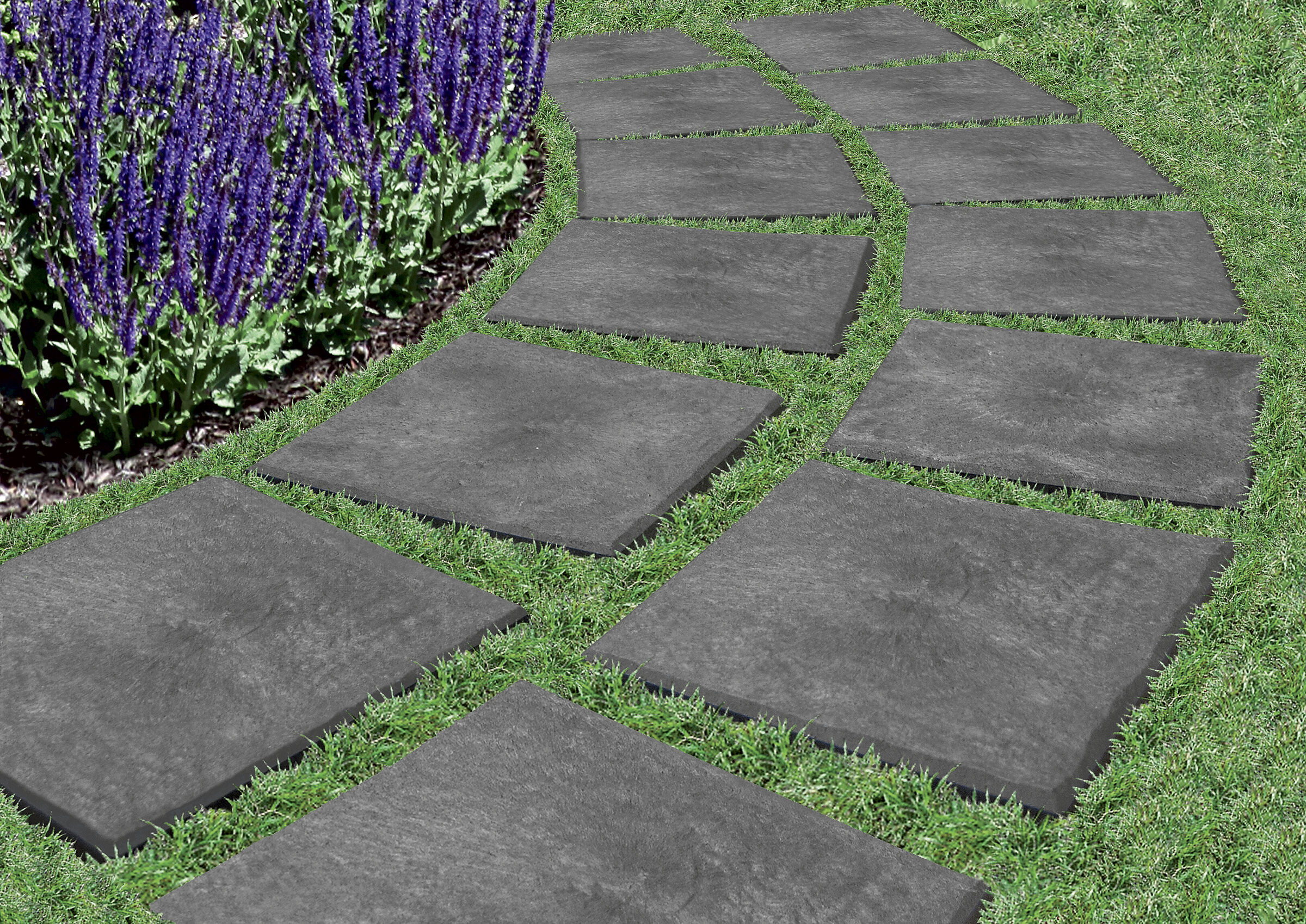 stomp stones garden pavers recycled