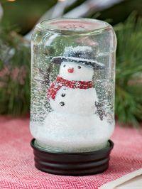 Mason Jar Snow Globe - Snowman in a Mason Jar Snow Globe ...