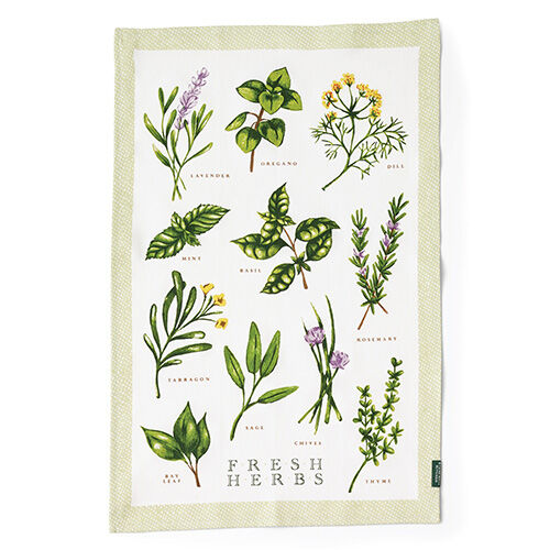 stonewall kitchen com decore fresh herb tea towel | & home