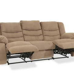 Ashley Sofa Recliners Light Blue Leather Chesterfield Tulen Mocha Reclining Mathis Brothers Furniture