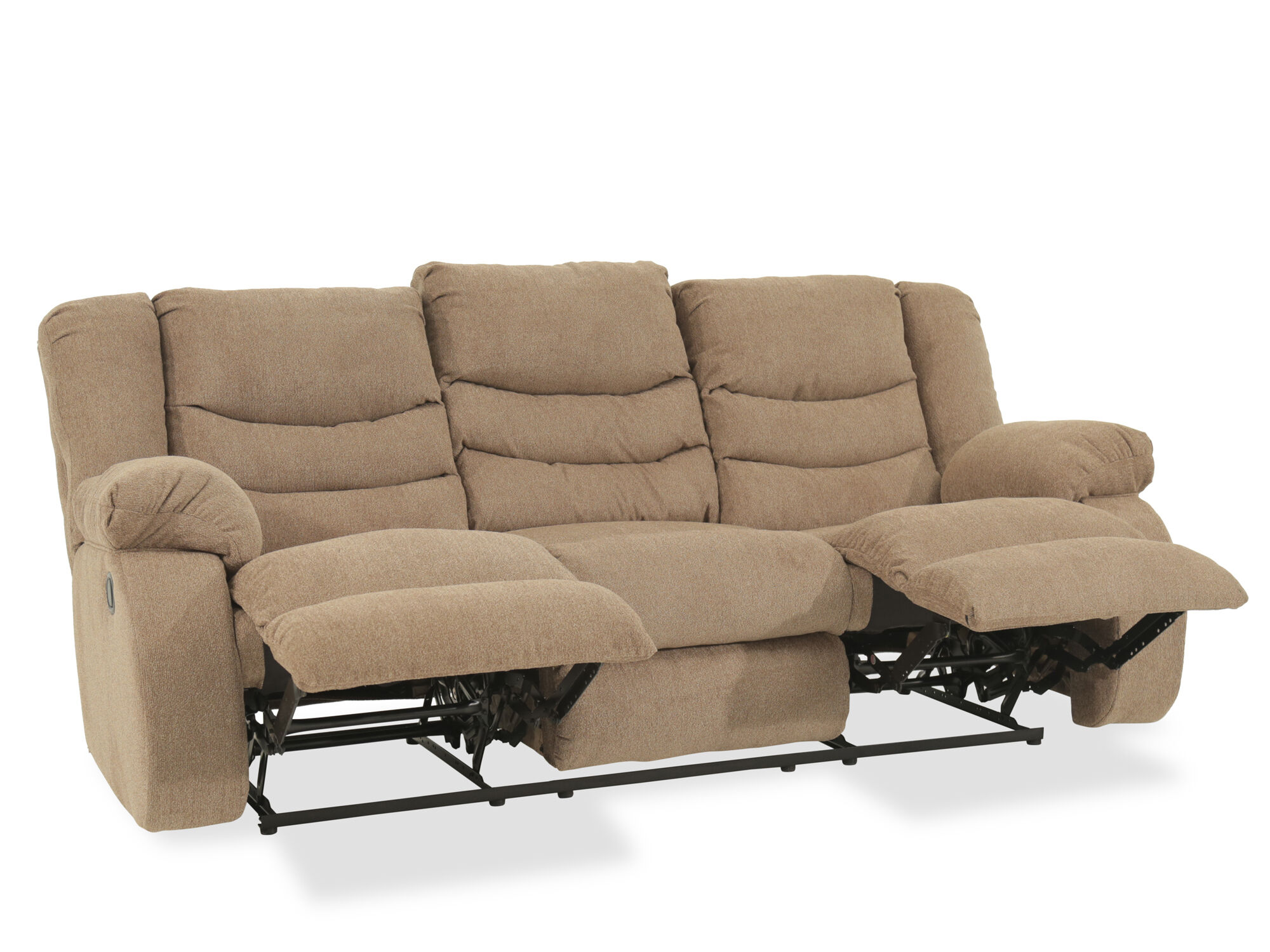 ashley furniture morandi mocha sofa double chaise sectional tulen reclining mathis brothers