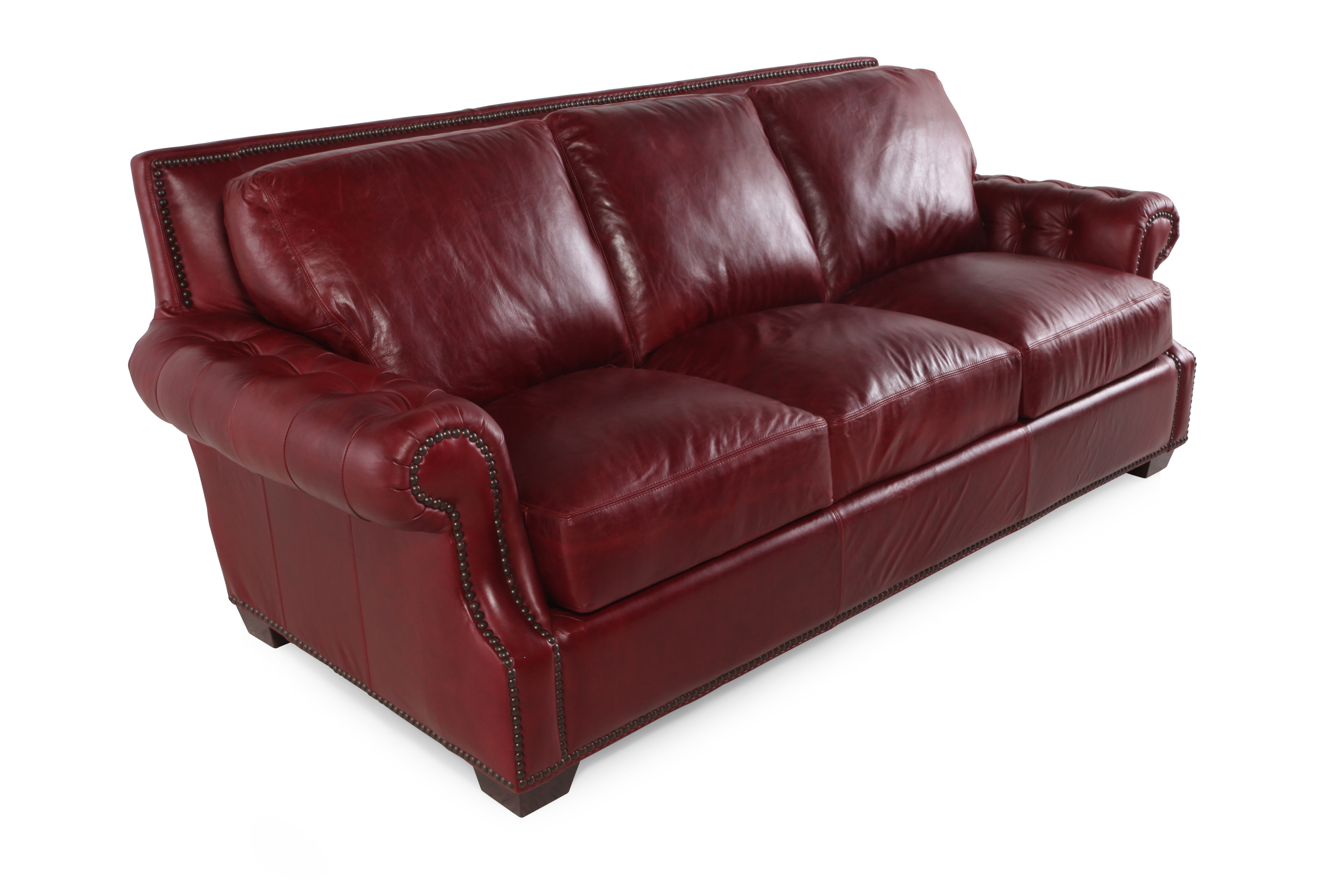 leather red sofa ikea with chaise usa marsala mathis brothers furniture