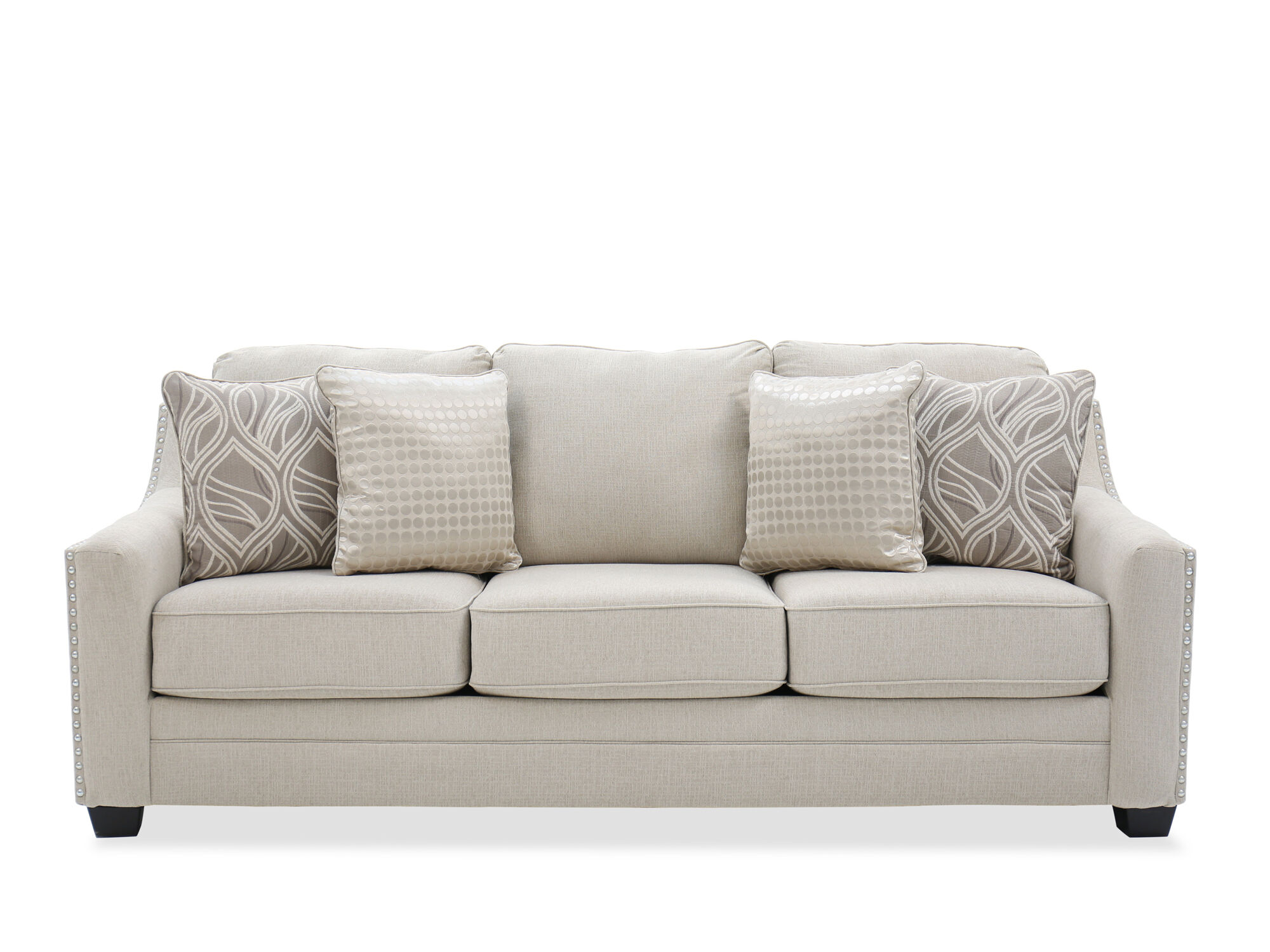 Ashley Mauricio Linen Sofa  Mathis Brothers Furniture
