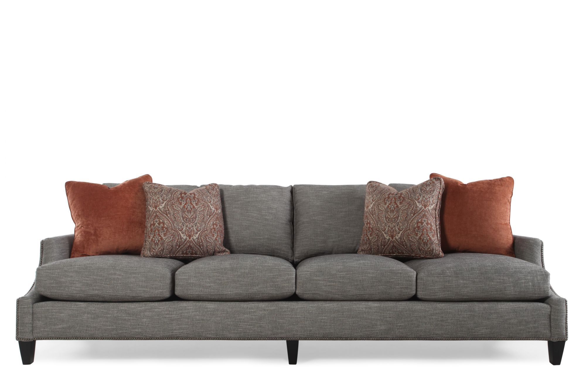 bernhardt furniture sofa velvet upholstered crawford mathis brothers