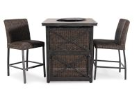 "Agio Franklin 36"" Square Bar Fire Pit 