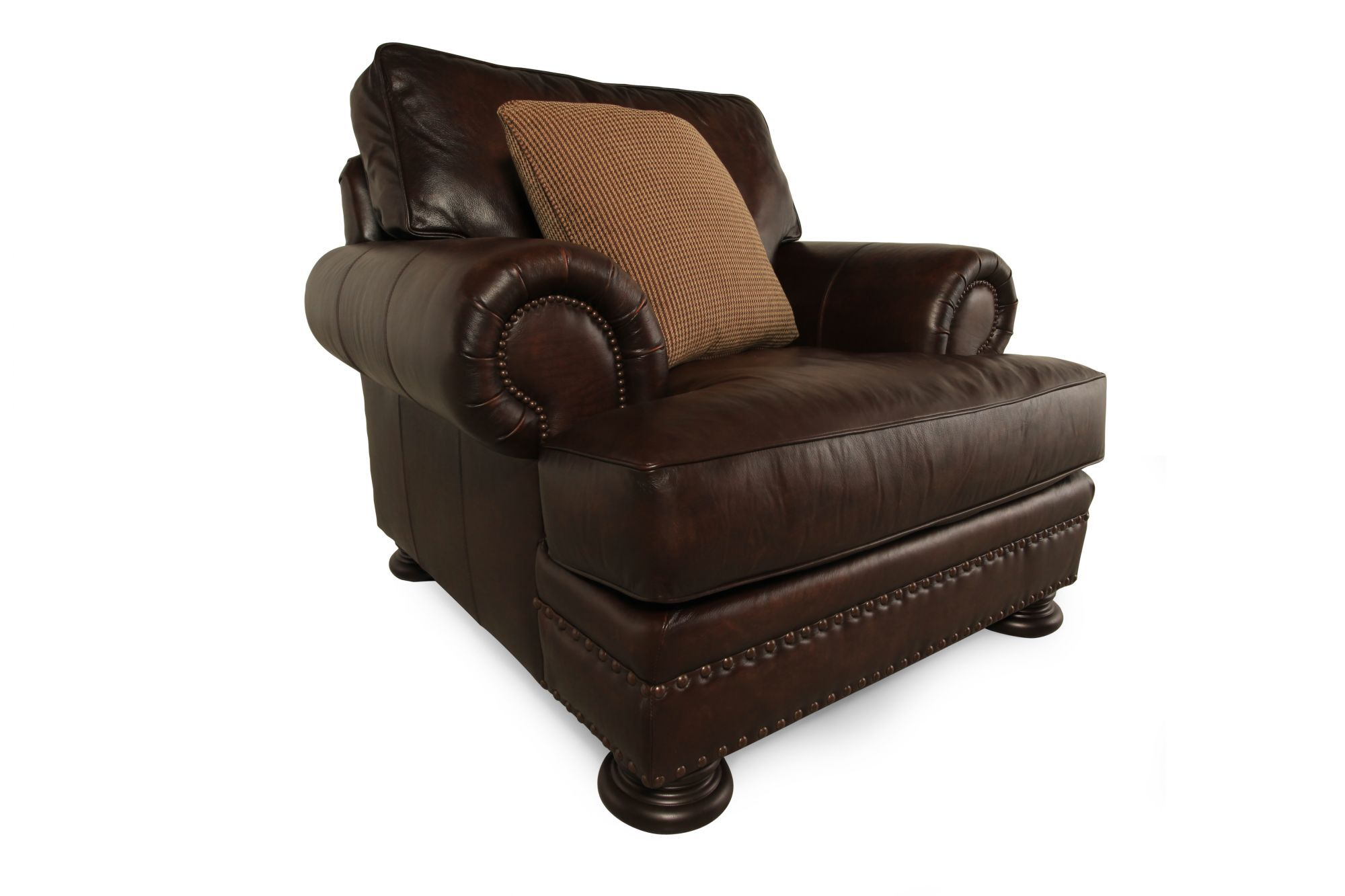 Bernhardt Leather Chair Bernhardt Foster Leather Chair Mathis Brothers Furniture