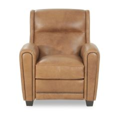 Bernhardt Brown Leather Club Chair Air Pump Rivoli Recliner Mathis Brothers