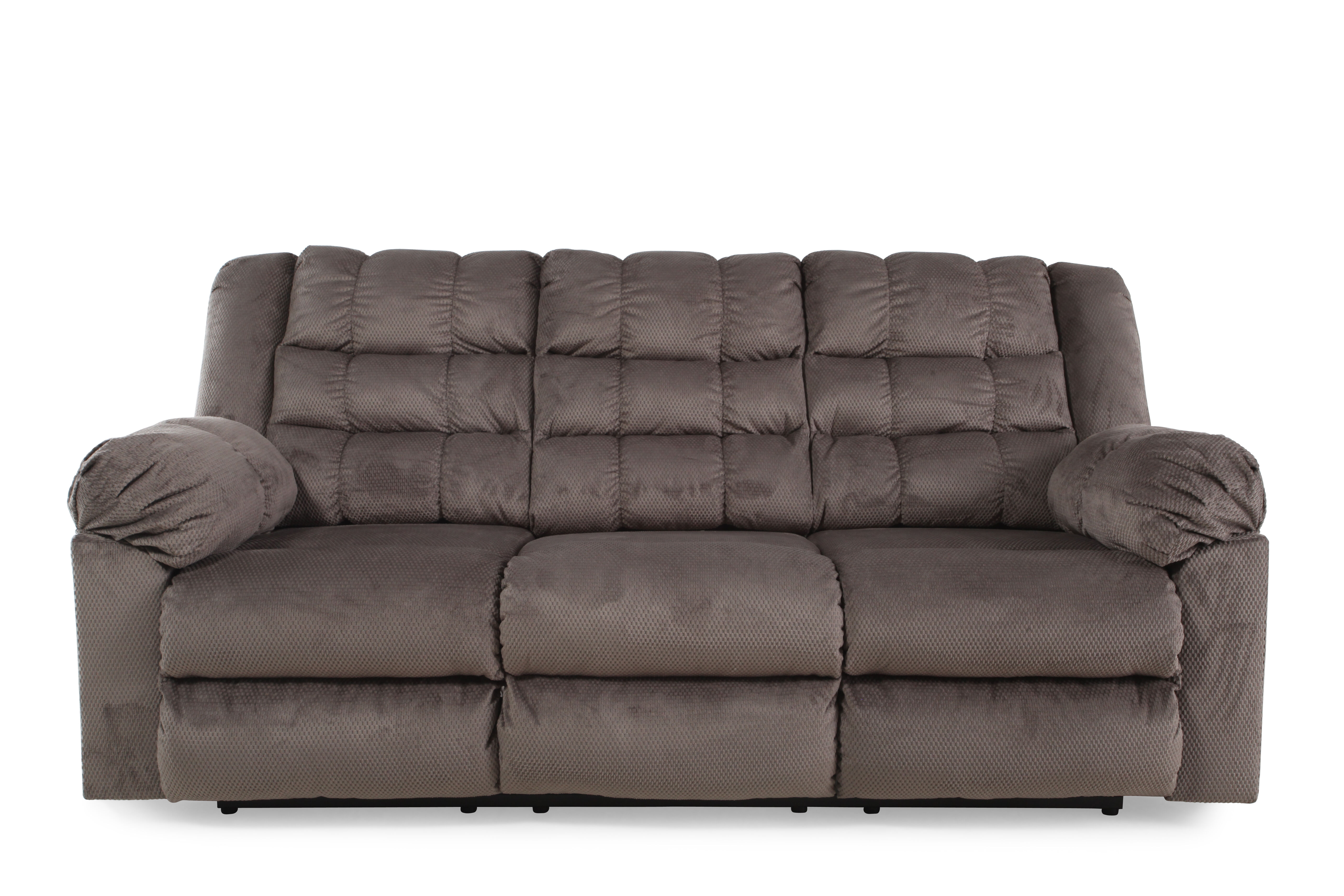 Ashley Mort Charcoal Reclining Sofa Mathis Brothers