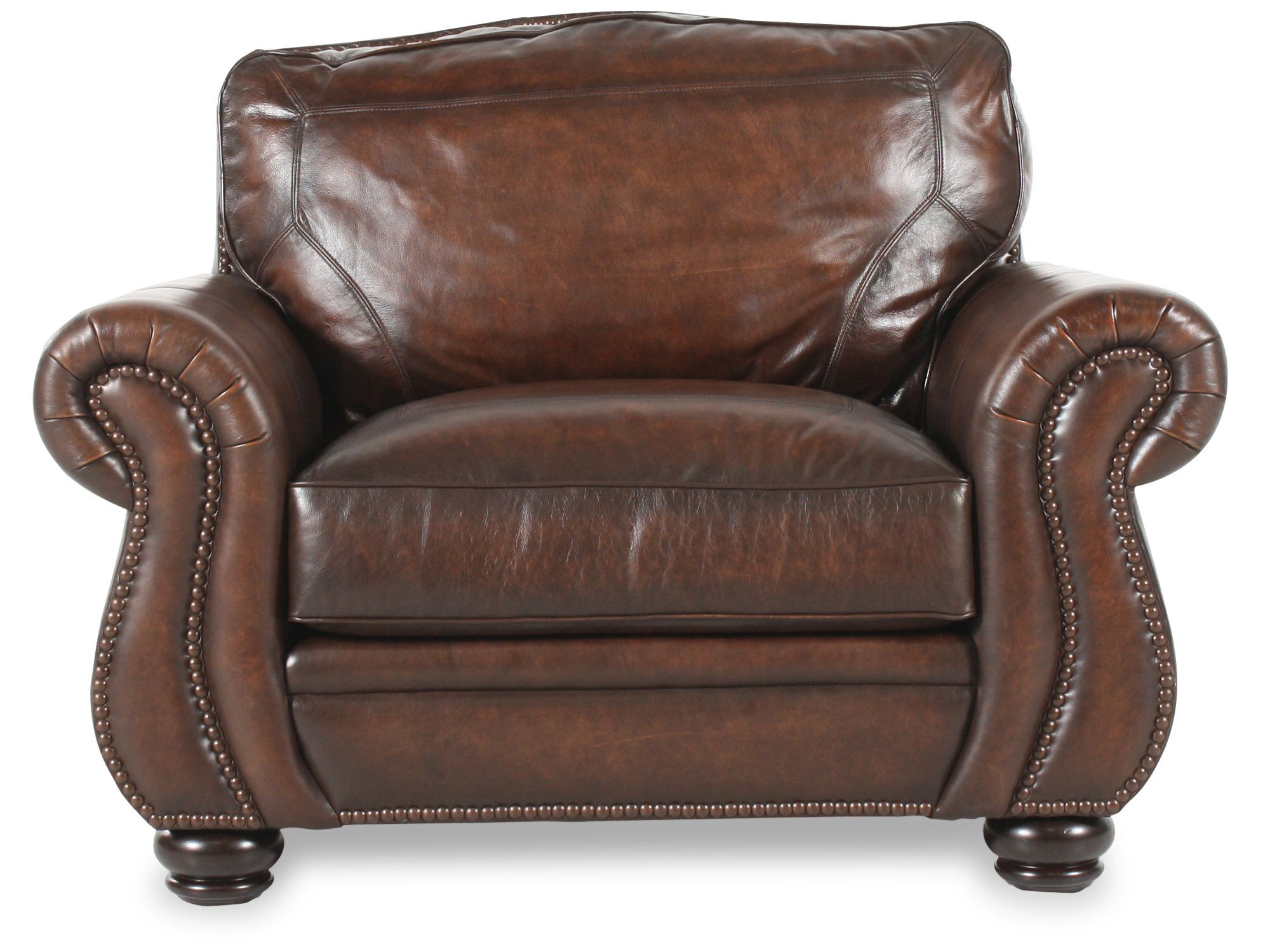 bernhardt brown leather club chair circle furniture chairs breckenridge mathis brothers