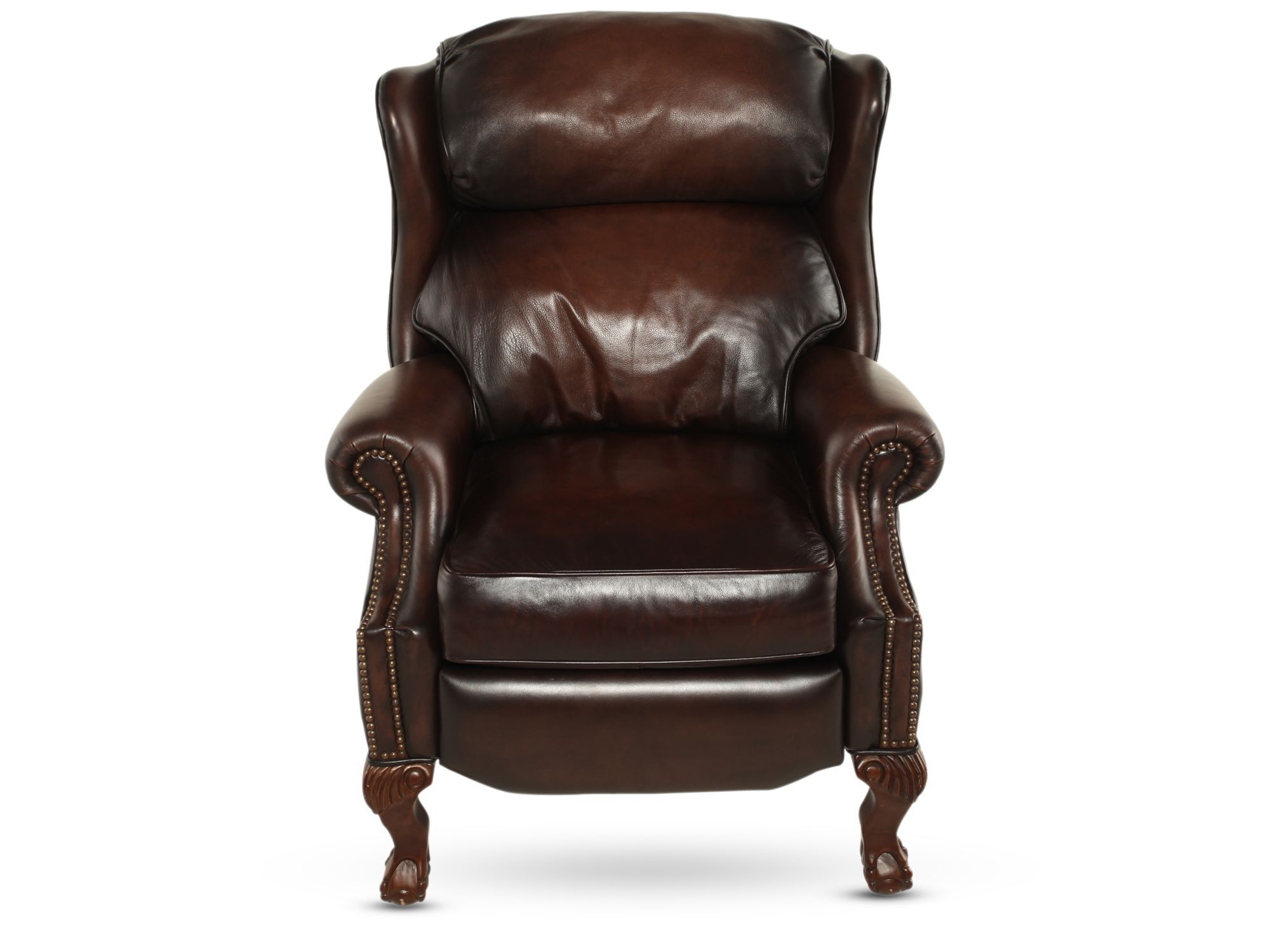 bernhardt brown leather club chair plastic rail manufacturers briggs recliner mathis brothers furniture