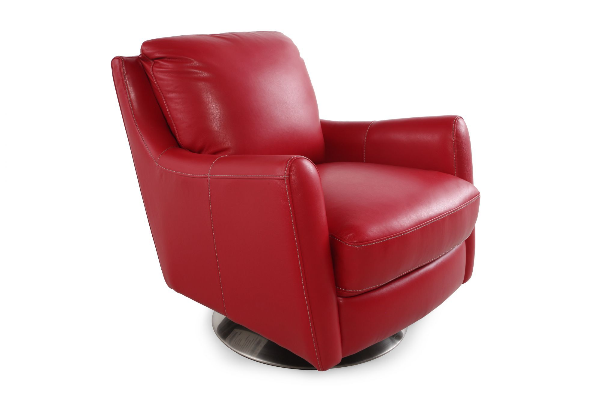 Red Swivel Chair La Z Boy Xavier Red Leather Swivel Chair Mathis Brothers