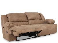 Ashley Hogan Mocha Two-Seat Reclining Sofa   Mathis ...