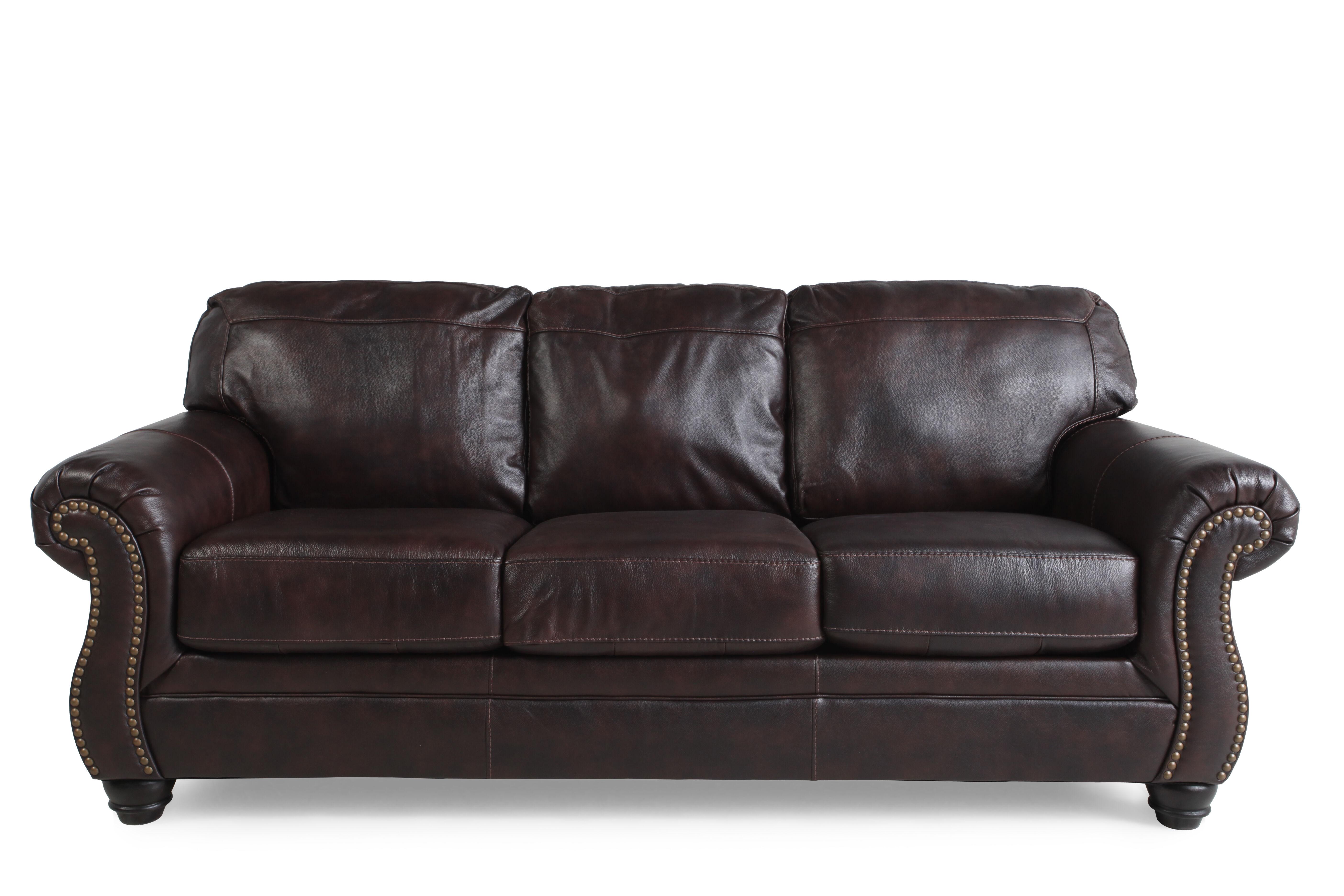 Ashley Bristan Walnut Sofa