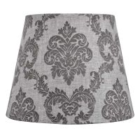 Gray Damask Lamp Shade 7X10X8 - At Home