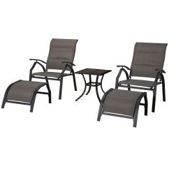 Adjustable Floor Chair With 5 Settings Trampoline Walmart Malibu Piece Sling And Table Set At Home