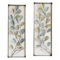 12 X 35-in Framed Filigree Leaf Wall Dcor - At Home