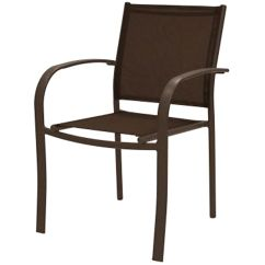 Low Lawn Chairs Wood Arm Chair With Cushion Brown Sling Back Outdoor Patio At Home