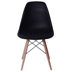 Eiffel Chair Wood Legs Covers In Bulk Black With At Home