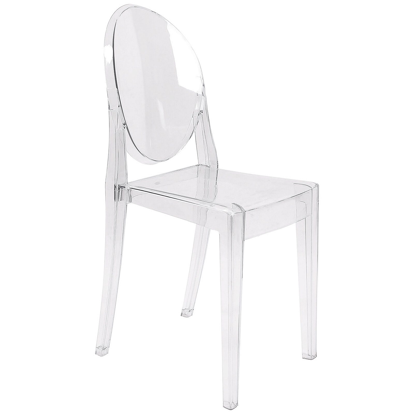 ghost chair stool damask dining covers uk armless clear at home