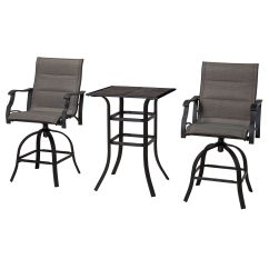 High Table Chair Set Straight Back Malibu Bistro 3 Piece And At Home