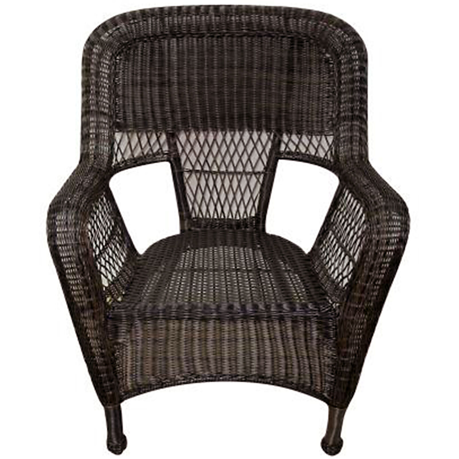 Dark Brown Wicker Chair  At Home