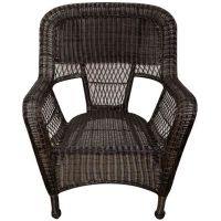 Dark Brown Wicker Chair - At Home
