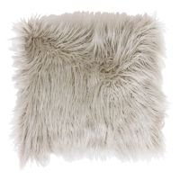 Oatmeal Mongolian Faux Fur Pillow- 26-in - At Home