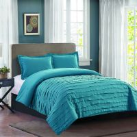 Avery Teal Ruffle Comforter Set Twin - At Home