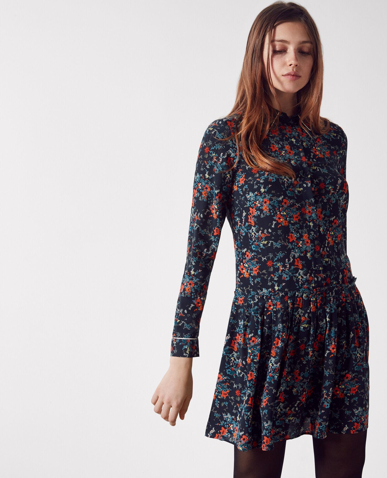 Print Silk Dress Shirt