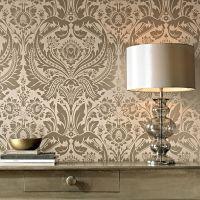 Desire Taupe and Metallic Wallpaper | Graham & Brown