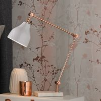 Rose Gold and Marble Desk Lamp - GrahamBrownUK