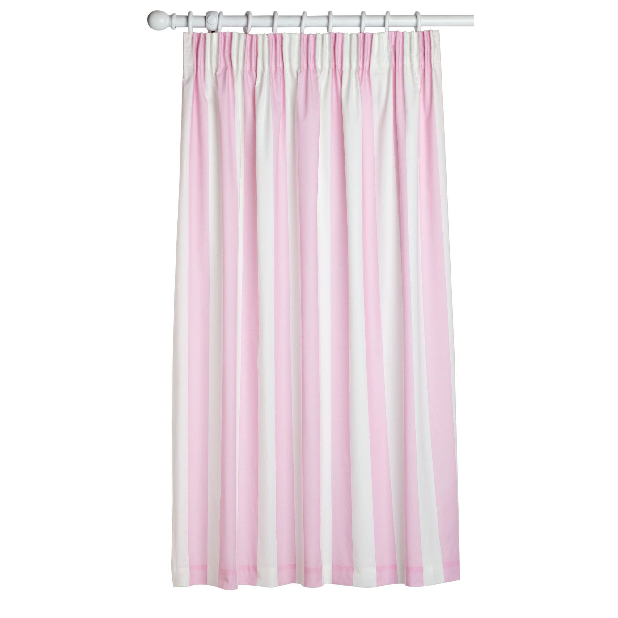 Pink & White Curtains GrahamBrownUK