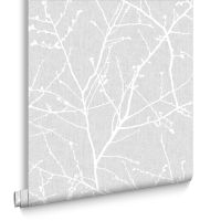 Innocence Grey Wallpaper | Grey Pattern Wallpaper | Graham ...