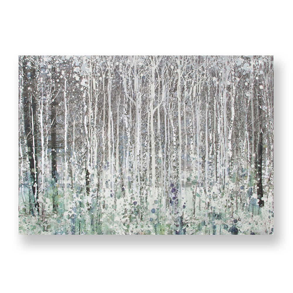 Watercolour Woods Printed Canvas