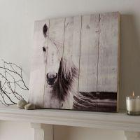 Horse Print On Wood Wall Art - GrahamBrownUS