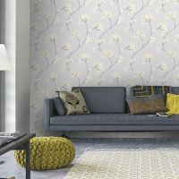Radiance Grey and Ochre Wallpaper