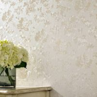 Floral Cream Shimmer Wallpaper | Contemporary Floral Wallpaper