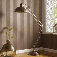 Angled Copper Floor Lamp - GrahamBrownUK