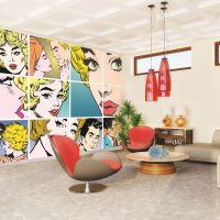 Pop Art Wall Mural - GrahamBrownUK