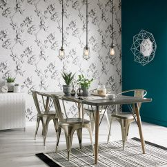 Trendy Kitchen Wallpaper Small Glass Table Stone Rose 3d Effect Graham
