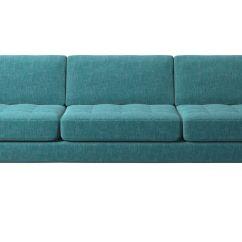 Cheap Teal Sofas Sofa Accessories Uk 3 Seater Osaka Tufted Seat Boconcept Blue Fabric