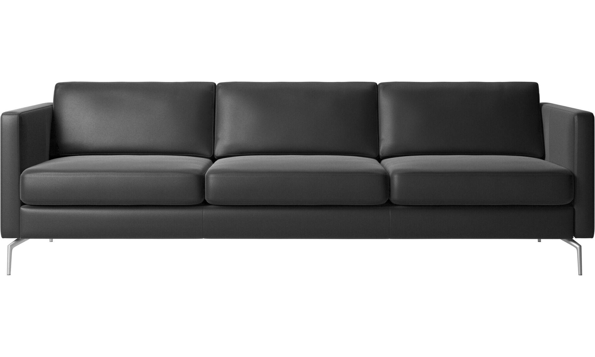 3 seater sofa black leather modular sofas osaka regular seat boconcept