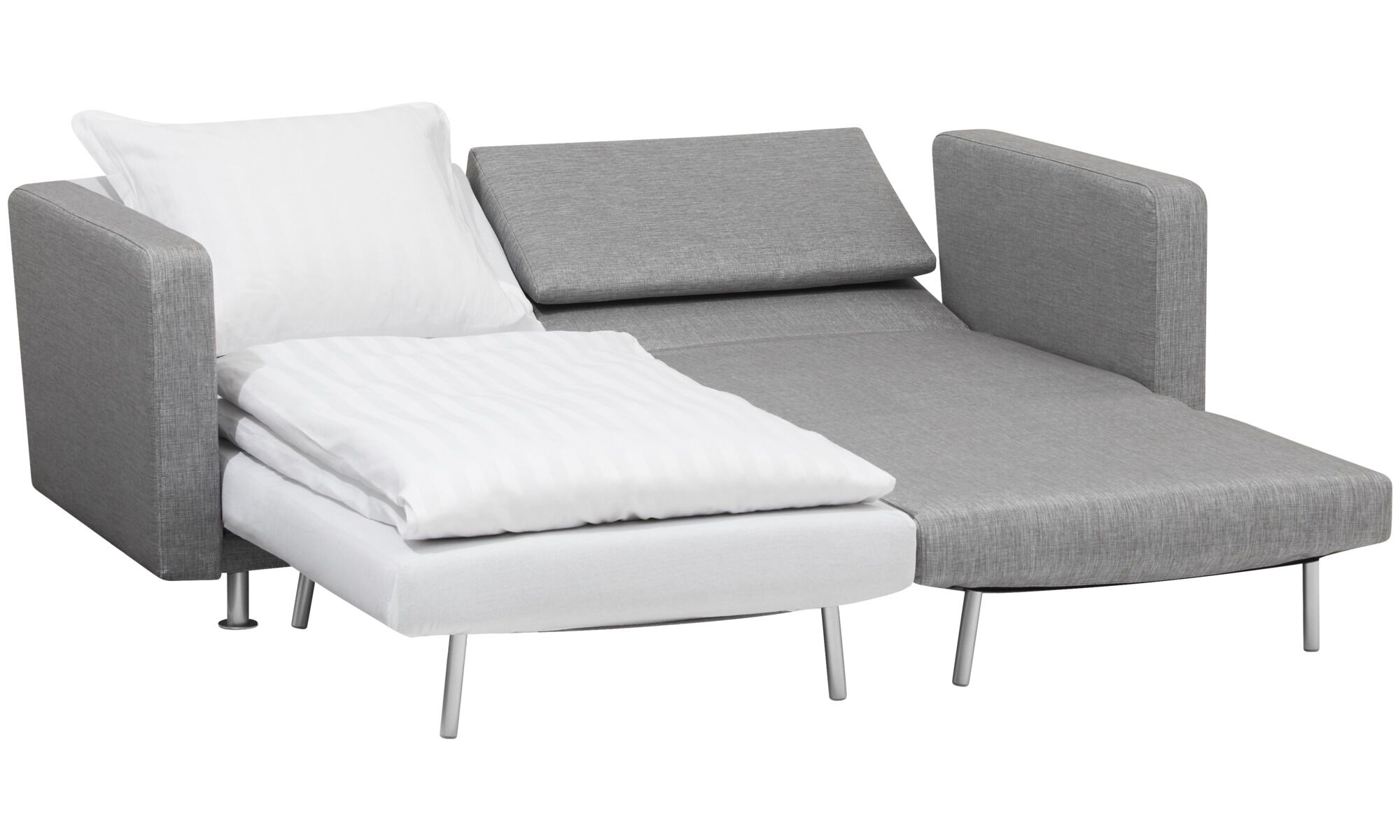chair beds for adults academy beach chairs sofa quality from boconcept melo 2 with reclining and sleeping function grey fabric