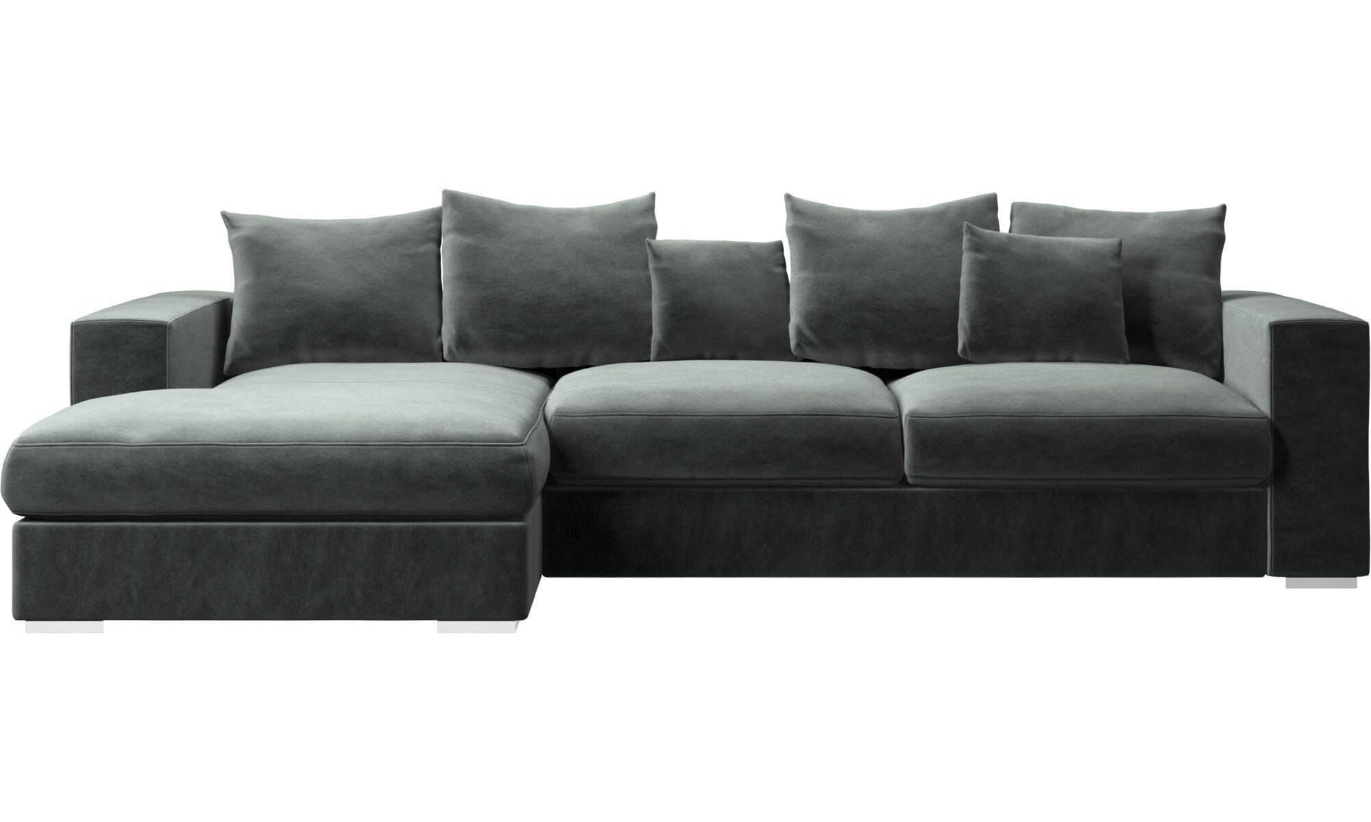 chez long sofa bed leather or fabric modern sofas for your home contemporary design from boconcept chaise longue cenova with resting unit green
