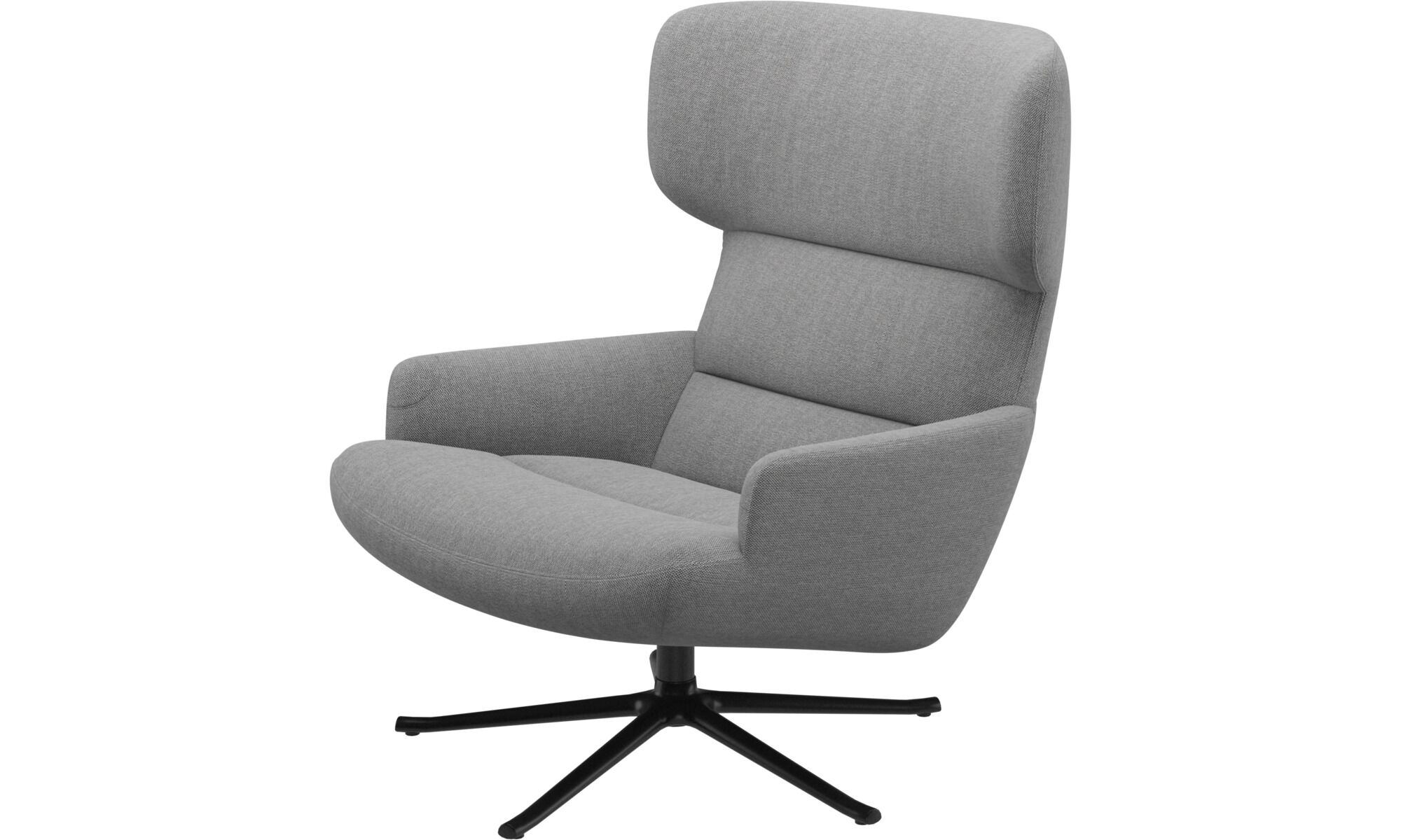 swivel arm chairs white adirondack wood modern armchairs contemporary design from boconcept trento chair with function gray fabric